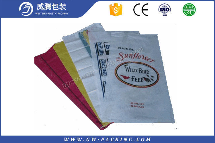 Durable Bopp Woven Polypropylene Feed Bags Food Grade 50kg For Animal Feed